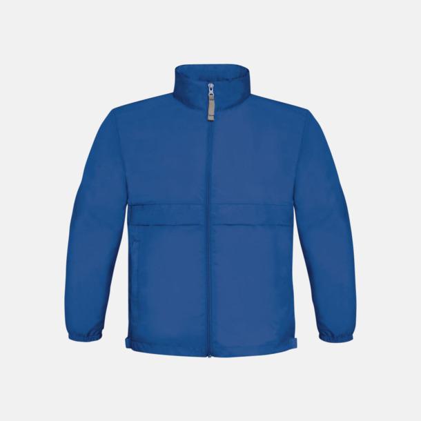 Royal Blue (barn) Vind- och vattentäta jackor för dam, herr och barn - med tryck