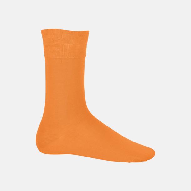 Orange Bomullsstrumpor i många färger med reklamtryck