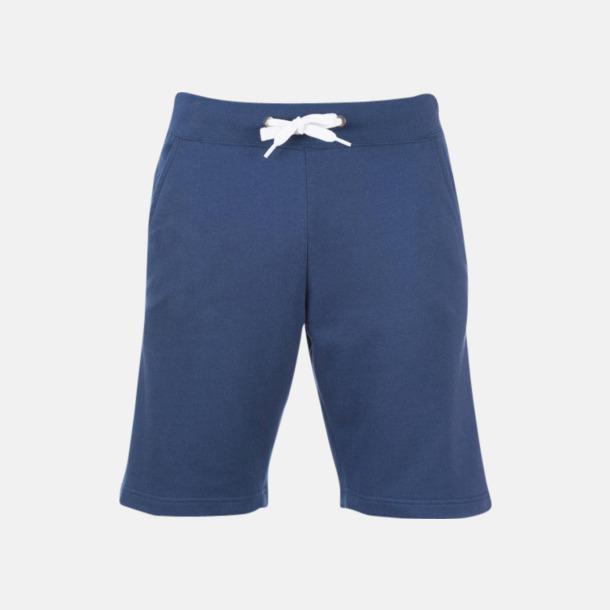 French Navy Shorts i herrmodell med reklamtryck