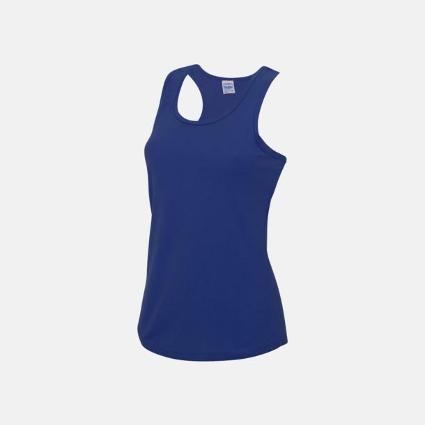 Royal Blue (dam) Enfärgade funktionslinnen i unisex-, dam & barnmodell med reklamtryck