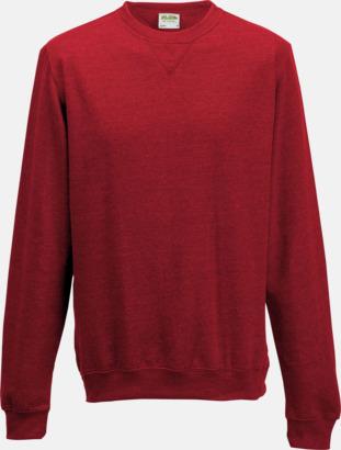 Red Heather (unisex) Heather tröjor i unisex- och dammodell med reklamtryck