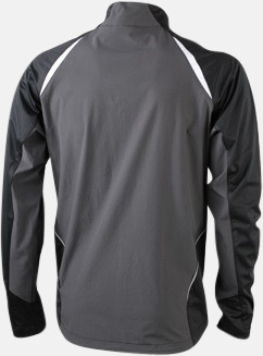 Svart/Carbon (rygg) Vindtäta jackor med eget tryck