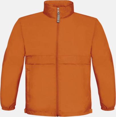 Orange (barn) Vind- och vattentäta jackor för dam, herr och barn - med tryck