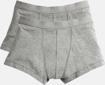 Light Grey Marl Boxershorts i 2-pack - med reklamtryck