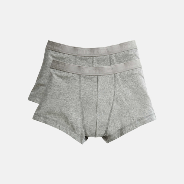 Light Grey Marl Boxershorts i 2-pack - med reklamtryck