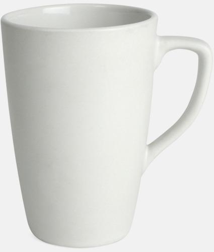 Vit Klassiska kaffemuggar med eget tryck