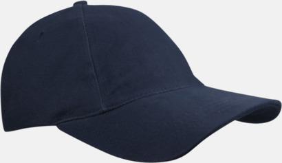 Marinblå Sportiga kepsar med brodyr eller tryck