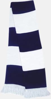 Marinblå/vit Halsdukar i olika lagfärger med egen brodyr