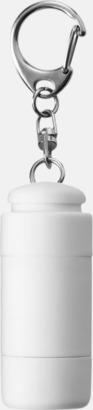 Vit Laddningsbara ficklampor med USB-nyckel