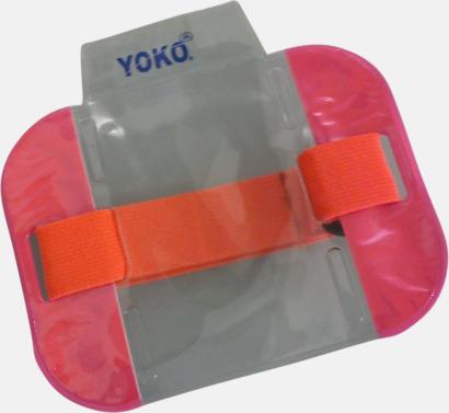 Floucerande rosa Vattentäta ID-armband med reflex