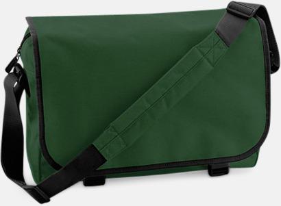 Bottle Green/Svart Billiga väskor med reklamtryck