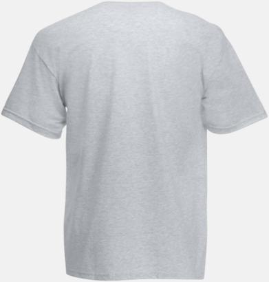 V-ringad t-shirt med reklamtryck