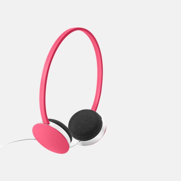 Rosa On-ear hörlurar i många färger - med tryck