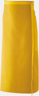 Gul (100 x 80 cm) Förkläden i 5 varianter med reklamtryck