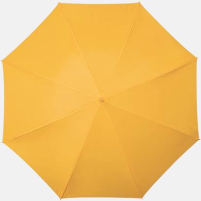 Gul Golfparaplyer med aluminium skaft - med reklamtryck