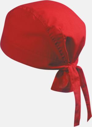 Röd (hatt) Bandanas i två varianter med reklambrodyr