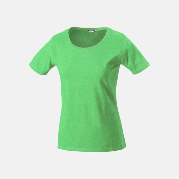 Limegrön T-shirtar av kvalitetsbomull med eget tryck