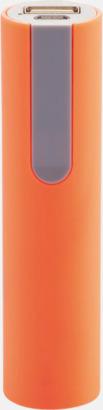 Orange/Grå Billiga nödladdare med reklamtryck