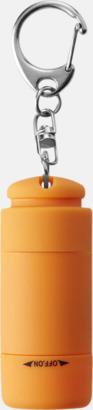Orange Laddningsbara ficklampor med USB-nyckel