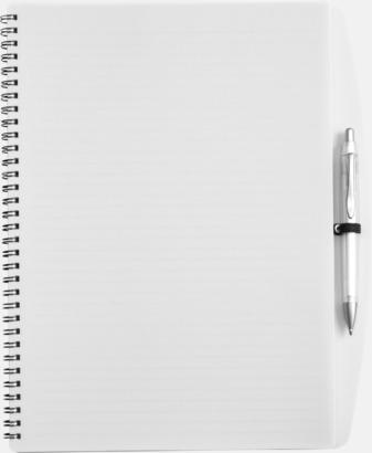 Vit A4-block med bläckpenna - med reklamtryck