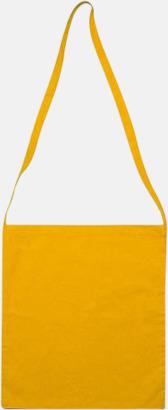 Gul Färgglada bomullskassar med reklamtryck i slingmodell