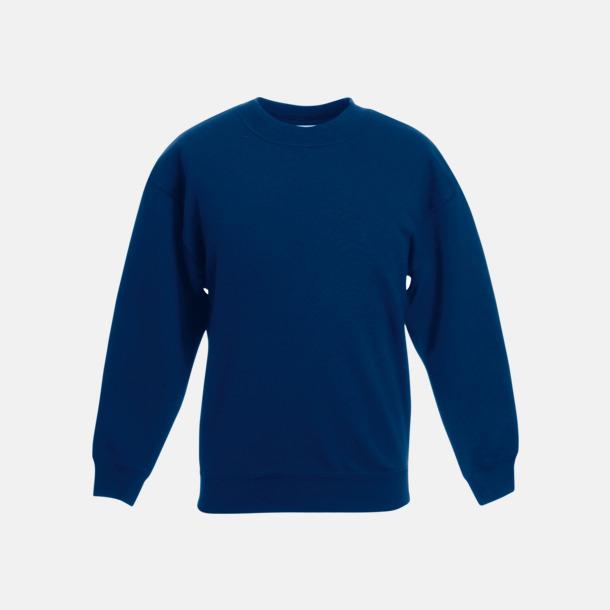 Marinblå Tjocktröjor för barn med reklamtryck