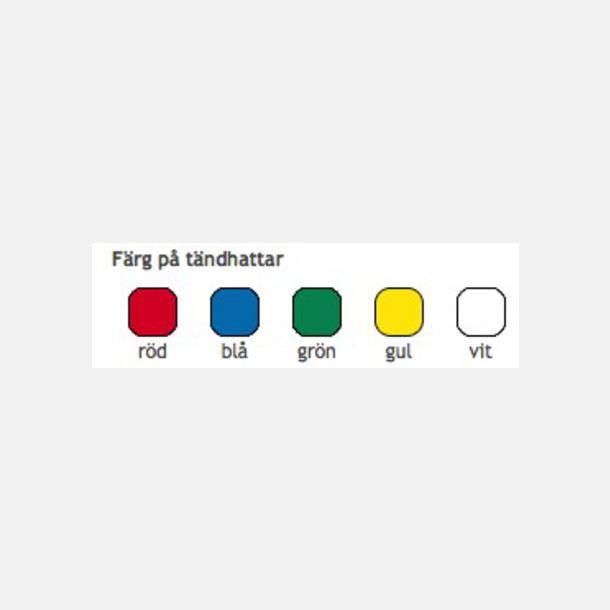 Standardfärger Runda tändsticksfodral med 10 eller 20 stickor - med reklamtryck