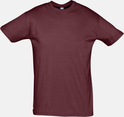 Burgundy Billiga herr t-shirts i rmånga färger med reklamtryck