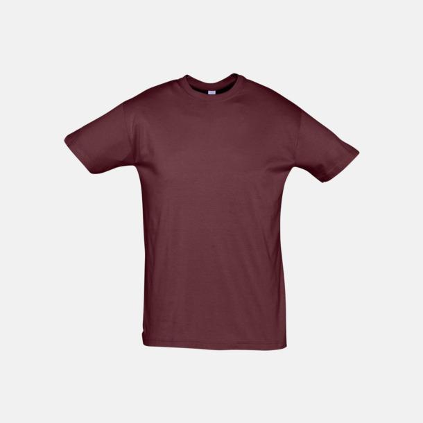 Burgundy Billiga unisex t-shirts i många färger med reklamtryck