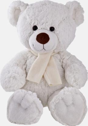 Vit björn (33 cm) Gosedjur med reklamtryckta halsdukar