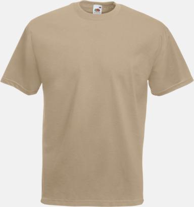 Khaki Valueweight t-shirt med tryck