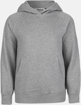 Sports Grey Ekologiska barntröjor med eller utan blixtlås - med reklamtryck