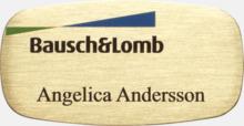 Unika namnbrickor i metall med egen logo