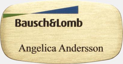 Guld Unika namnbrickor i metall med egen logo