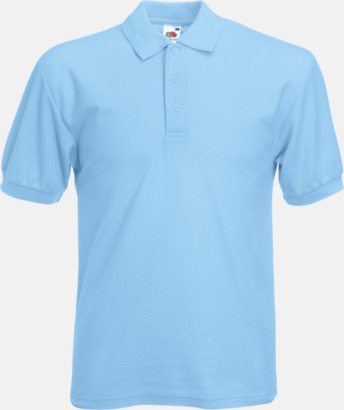 Sky Blue Pikétröjor med reklamtryck eller brodyr