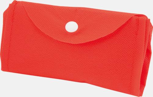 Röd Vikbar gympapåse/ryggsäck med reklamtryck
