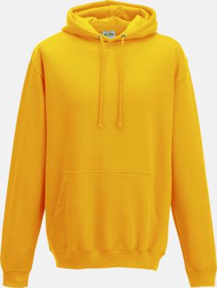 Gold Billiga collegetröjor i unisexmodell - med tryck