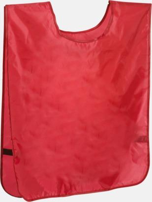 Röd Stora lagvästar med reklamtryck