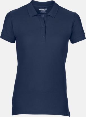 Marinblå Billiga dampikétröjor med tryck