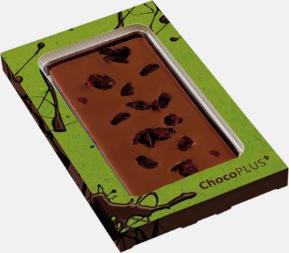 Tranbär (mjölkchoklad) Lyxiga chokladkakor i många smaker med reklamtryck