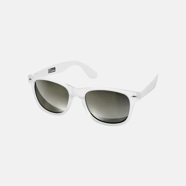 Vit Snygga och säkra solglasögon med färgade linser - med reklamtryck