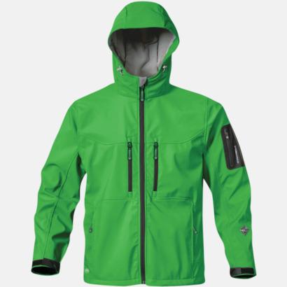 Treetop Green/Svart Riktigt fina soft shell jackor med reklamtryck