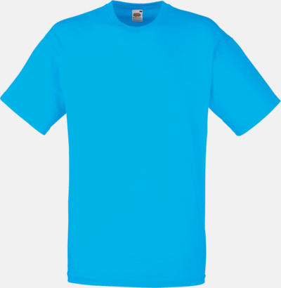 Azure Blue Valueweight t-shirt med tryck
