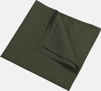 Olivgrön (scarf) Bandanas i två varianter med reklambrodyr