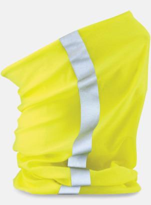 Flocerande Gul/Reflex Halskragar med reflexer och flouroscerande färg - med eget tryck