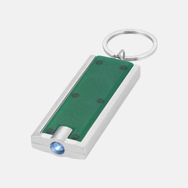 Grön Ficklampa till nyckelringen med reklamtryck