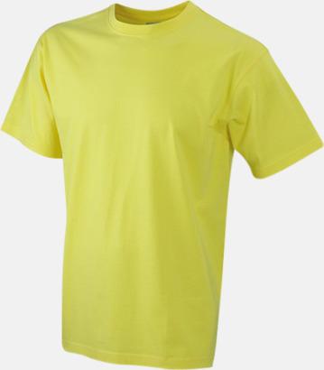 Gul Barn t-shirtar av kvalitetsbomull med eget tryck