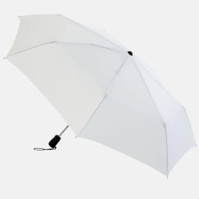 Vit Basildon Kompakt - Paraplyer Med tryck