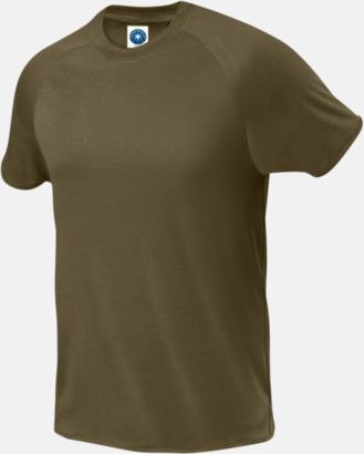 Khaki (endast herr) Funktions t-shirts i herr- & dammodell med reklamtryck