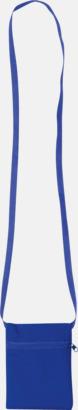 Blå Billigaste halsplånboken med tryck